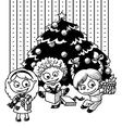 children sketch vector image vector image