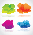 Collection of info speech clouds vector image vector image