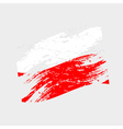 color poland national flag grunge style eps10 vector image vector image