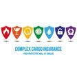 Complex cargo insurance desing concept vector image