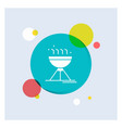 cooking bbq camping food grill white glyph icon vector image