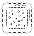 cracked biscuit icon outline style vector image