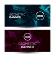 Dark horizontal abstract geometric low poly vector image vector image