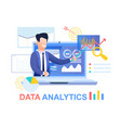 data analytics young businessman in blue suit vector image