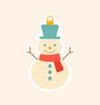 decorative little christmas snowman tree ornament vector image vector image