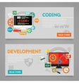 Development and Coding Concept Banners vector image vector image