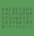 digital font on green background vector image