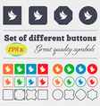 Dove icon sign Big set of colorful diverse vector image vector image