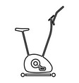 exercise bicycle stationary bike exercycle icon vector image