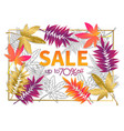 fall sale poster vector image