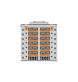 flat apartment residential building vector image vector image