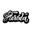 florida sticker modern calligraphy hand vector image vector image
