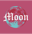 full moon of moon in creative vector image