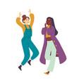 girls enjoying dance party young beautiful women vector image vector image