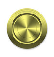 gold circle button template for your design vector image vector image