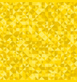 golden triangle pattern background - polygonal vector image vector image