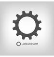 Grey gearwheel vector image vector image