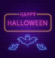 happy halloween party bright signboard vector image vector image