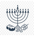 happy hanukkah on white background vector image vector image