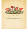 Holiday background with christmas tree branches vector image
