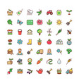 icons agriculture vector image