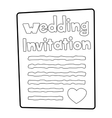 Invitation icon outline style vector image vector image