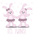 its girl twins vector image