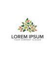 leaf gardening logo design concept template vector image vector image