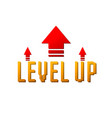 level up logo vector image vector image