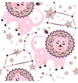lion constellation pattern vector image vector image