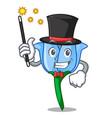 magician bell flower mascot cartoon vector image