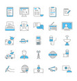 mass media and journalism thin line icon set vector image vector image