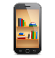 Mobile library vector image vector image