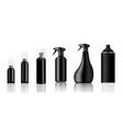 mock up realistic black plastic spray packaging vector image vector image