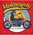 old biker riding vector image vector image