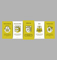 podcast and radio onboarding elements icons set vector image