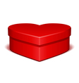 red shiny heart gift vector image vector image