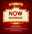 retro light sign cinema signage vintage style vector image vector image