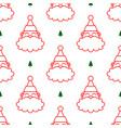 santa claus head white seamless pattern vector image vector image