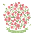Save The Date Invitation with Floral Bouquet vector image vector image