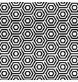 seamless pattern with abstract hexagons vector image vector image
