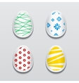 set 3d egg stickers with different patterns