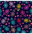 Set of banners Colorful floral seamless pattern vector image vector image