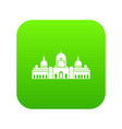 sheikh zayed grand mosque uae icon digital green vector image vector image