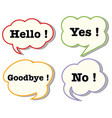 speech bubbles with words vector image