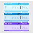 Three Classes Boarding Pass Blue Tint vector image vector image