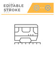 train line icon vector image vector image
