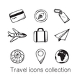 Travel icons collection vector image