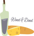 Wined and Dined vector image