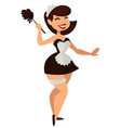 woman in maid costume halloween party or vector image vector image